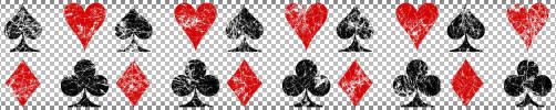 Grunge Playing Card Suits by singularitycomplex