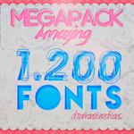 MegaPack de 1.200 FONTS -DaniMonster
