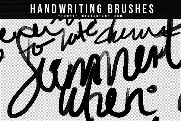 Handwriting Brushes By Yeonseb On Deviantart
