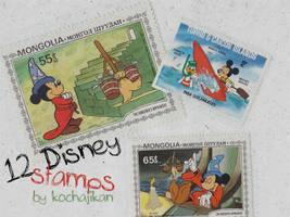 12 Disney Stamps by zakurographics