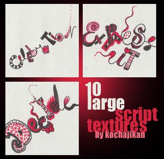 10 Script Textures by zakurographics