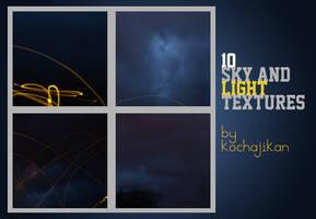 10 large sky + light textures by zakurographics