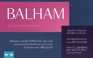 Balham - Free Elegant Font by Dannci