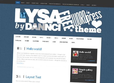Lysa WordPress Theme by Dannci