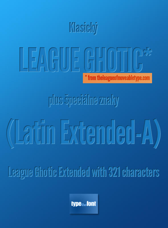 League Ghotic Extended by Dannci
