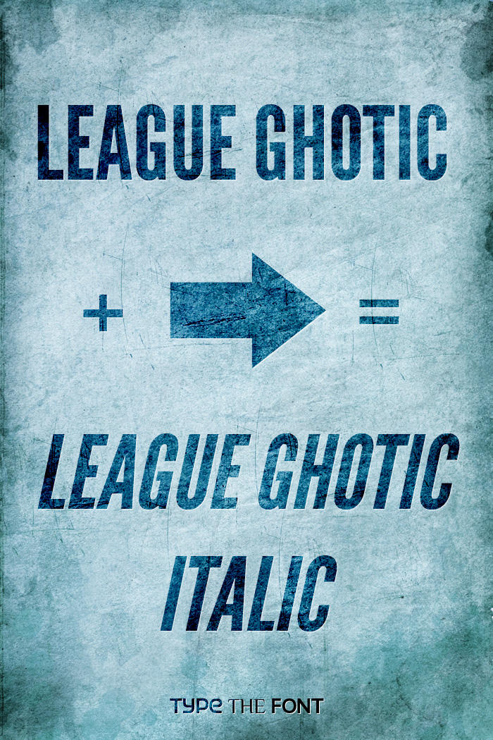 League Ghotic Extended Italic by Dannci