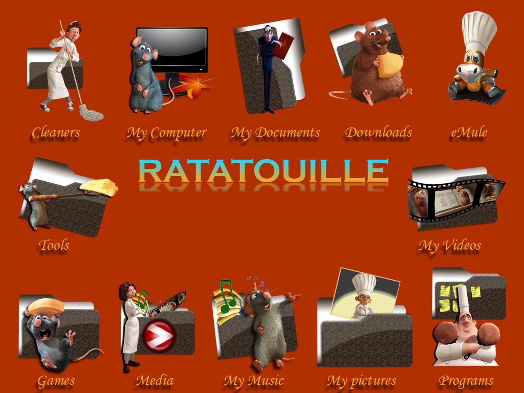 Ratatouille Icon Pack by jlfarfan