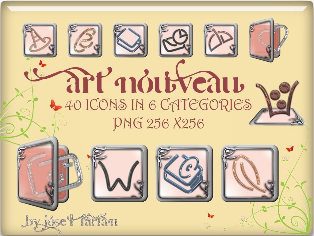 Art Nouveau Icons by jlfarfan