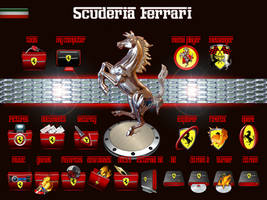 Ferrari Icons and wallpapers by jlfarfan