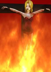 Burning witch Denev animation by softsai