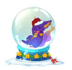 snow globe YCH for BluethornWolf by Miru-Studios