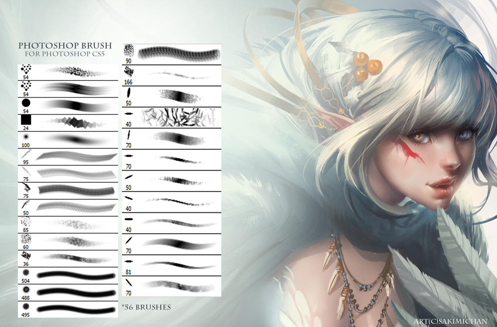 photoshop brushes by sakimichan