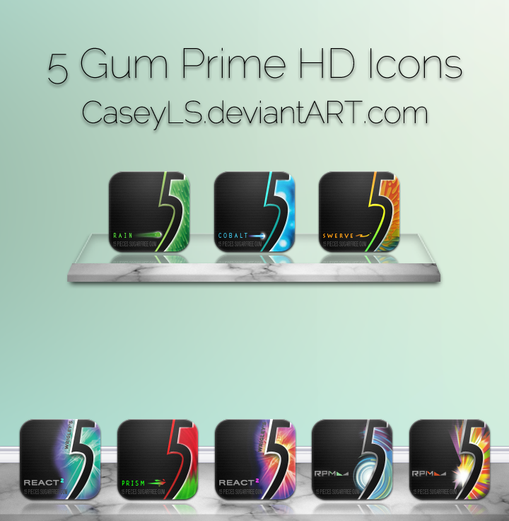 5 Gum Prime HD Icons by Caseyls