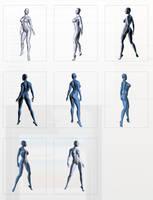 Genesis 2 Female Pose Reference Series 500 by cgartiste