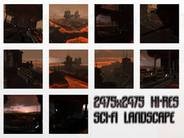 PLANET LAVA HI-RES STOCK BACKGROUND PACK by cgartiste