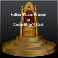 Golden Throne by BrokenWing3dStock
