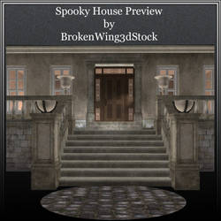 Spooky House by BrokenWing3dStock