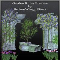 Garden Ruins by BrokenWing3dStock