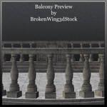 Balcony by BrokenWing3dStock