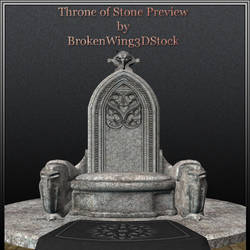 Throne of Stone Preview by BrokenWing3dStock