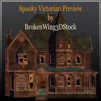 Spooky Victorian by BrokenWing3dStock
