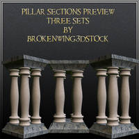 Pillar Sections by BrokenWing3dStock