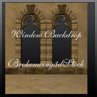 Window Backdrop by BrokenWing3dStock