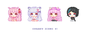 Sugary Icons #1 by Yeurei