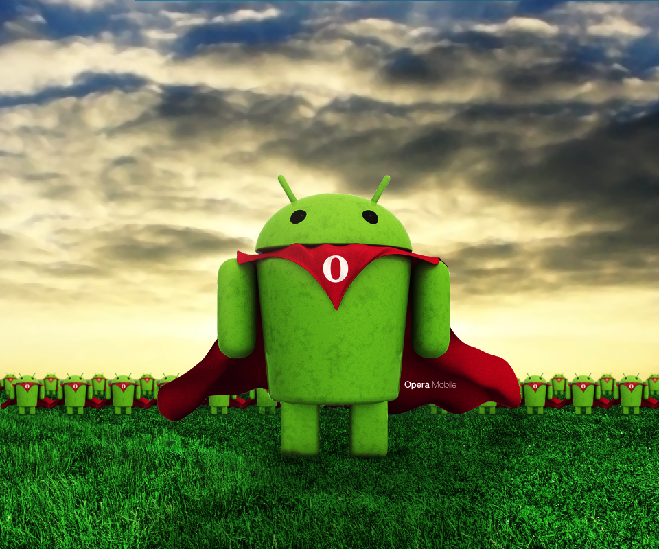 Opera Mobile Android Wallpaper by Lukaydo