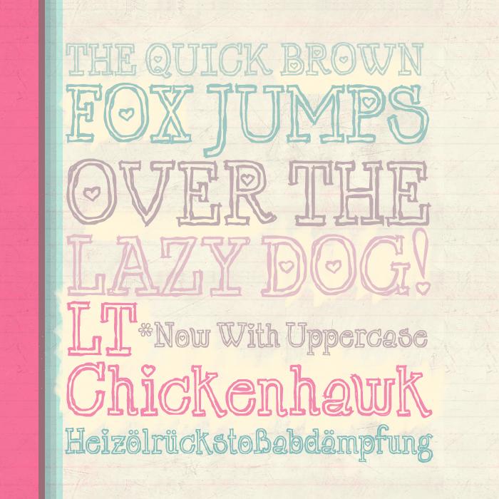 LT Chickenhawk Font