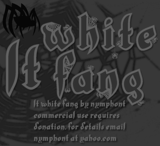 LT White Fang Font By Nymphont