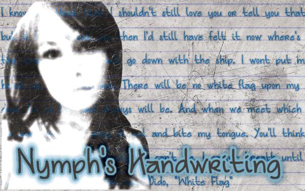 Nymph's Handwriting Font