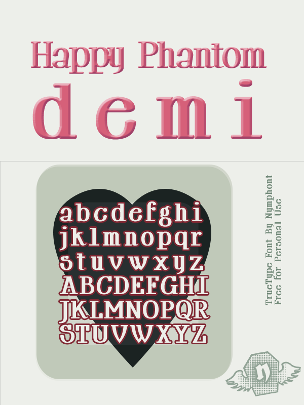 Happy Phantom Demi Font by nymphont