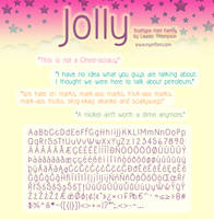 Jolly Font Family by nymphont