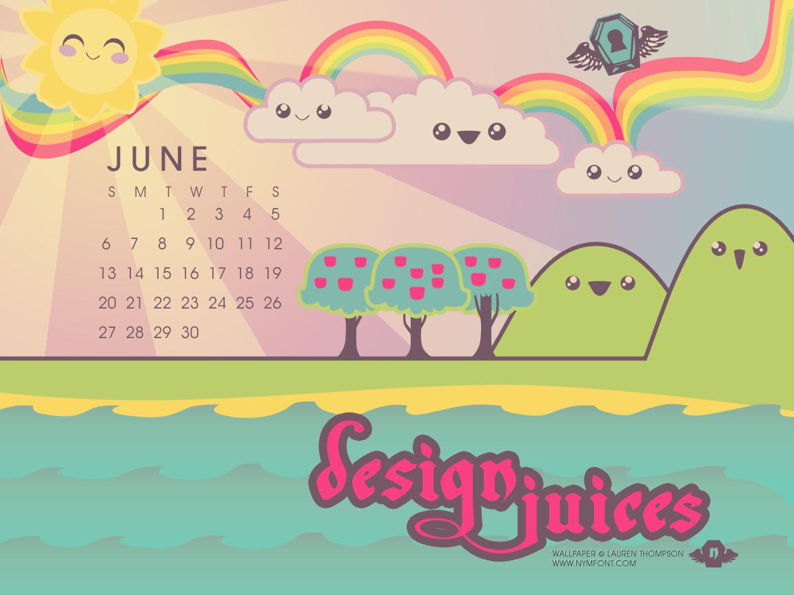 Kawaii Design Juices Calendar