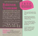 Robinne Truecase Font