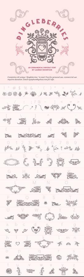 Dingleberries Dingbat Font