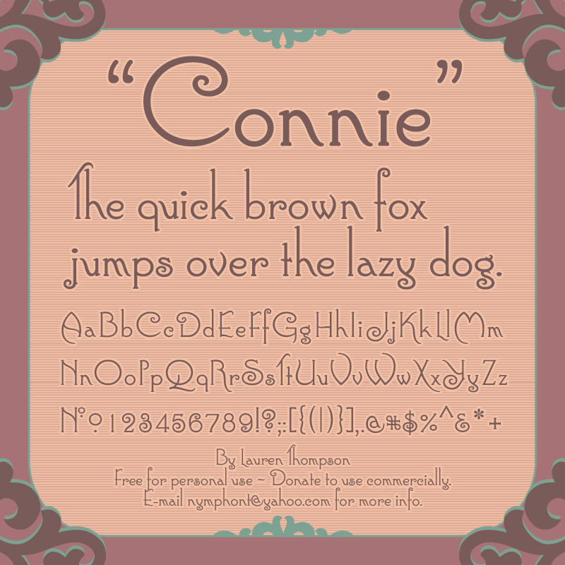 Connie Font by nymphont