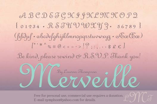 Merveille Script Font