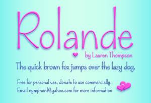 Rolande Font Family