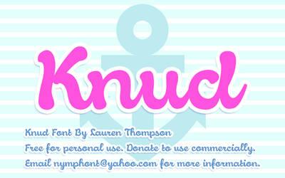 Knud Script Font