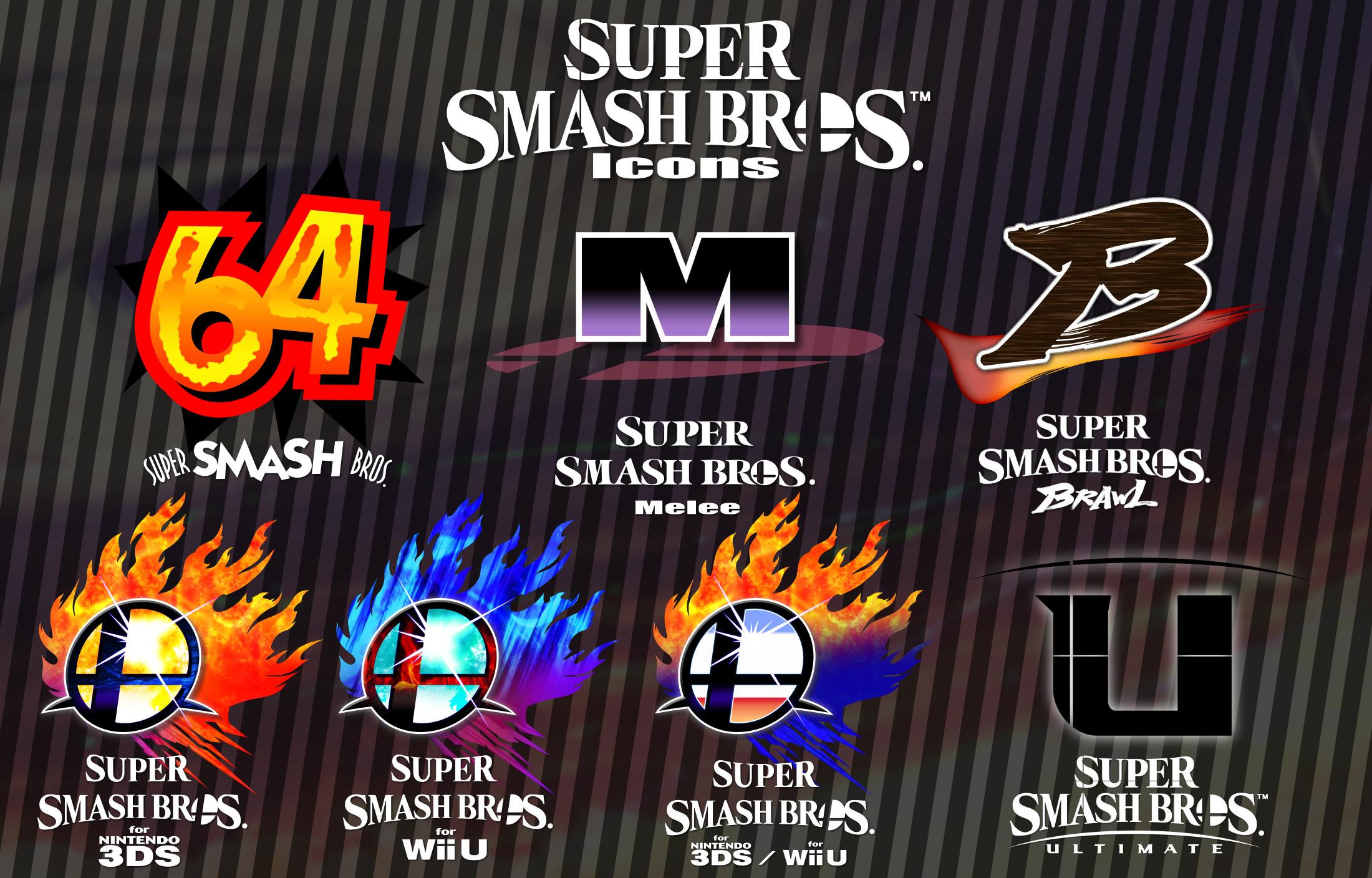 [Logos] Super Smash Bros. Logo Icons by ...