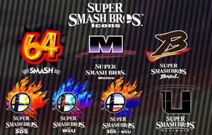 [Logos] Super Smash Bros. Logo Icons by RapBattleEditor0510