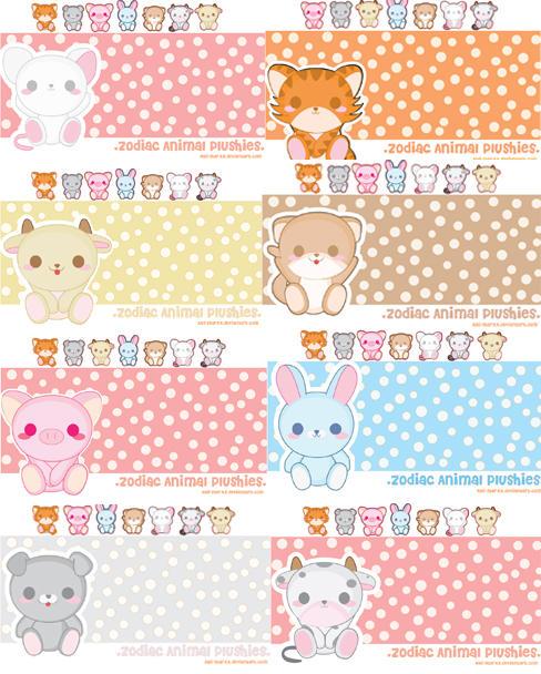 Plushie Animal Wallpaper Pack by xXAli-StarXx