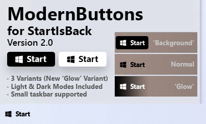 ModernButtons // XP Styled Buttons for StartIsBack