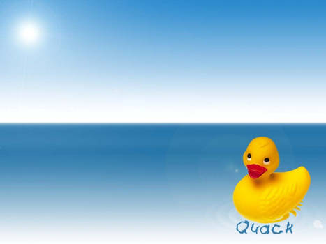 Ducky in Water
