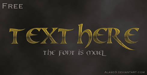 Free Photoshop text Style by alasd3