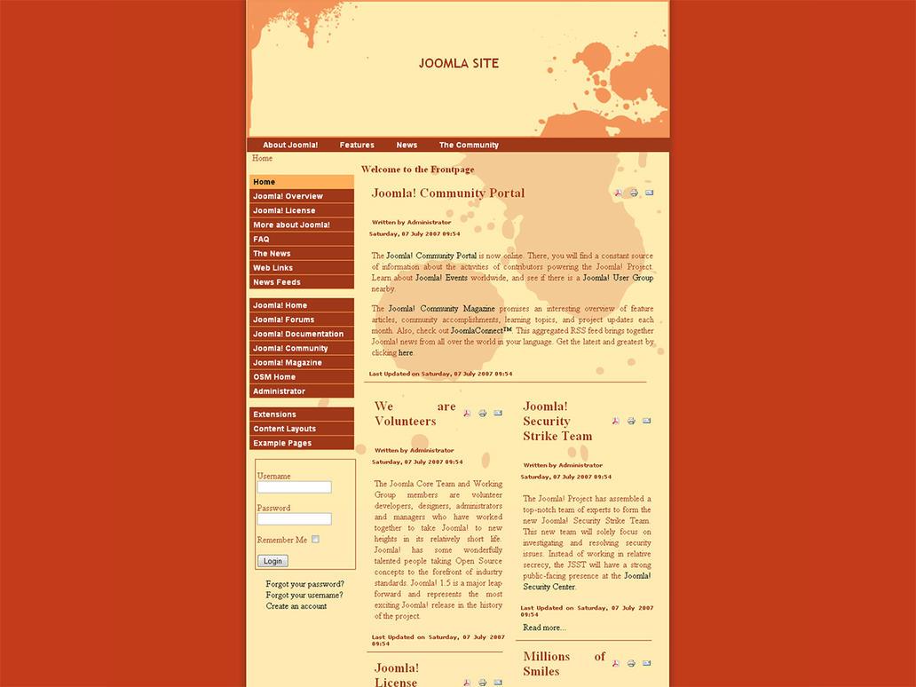 Splatter Joomla 1.5 Template by bsq2phat
