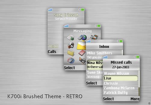K700i Brushed Theme-Retro