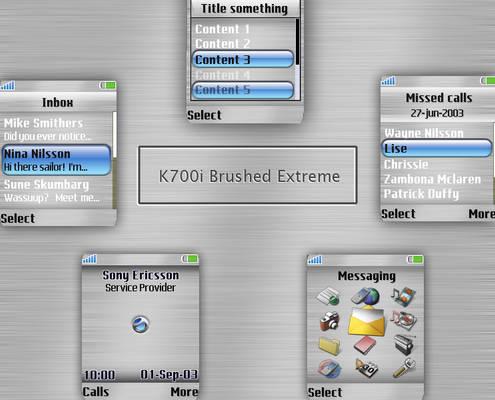 Brushed Metal Extreme K700i